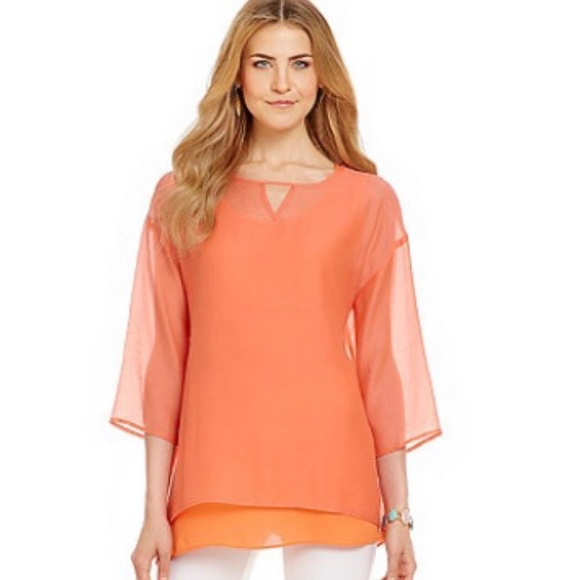 IC Top in Coral. Includes camisole